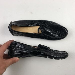 Cole Haan Womens Black Penny Driver Loafer DR01982